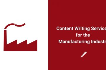 content writing services for manufacturing industry banner